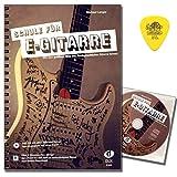 Schule für E-Gitarre von Michael Langer mit CD, Gratis-Download und Original Dunlop Plek - mit den größten Hits der Rockgeschichte Gitarre lernen