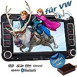 2DIN Autoradio CREATONE VW7000 für VW inkl. Can-Bus mit GPS Navigation (Europa-Karten - 47 Länder) | Freisprecheinrichtung | Bluetooth | 7 Zoll Touchscreen | Win CE | DVD-Player | USB/SD-Funktion