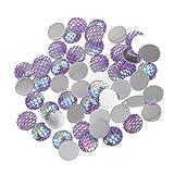 Sharplace 50 Stück Schmuckzubehör Cabochonset Meerjungfrau Fishscale zum DIY Halsketten Armband Schmuckherstellung Basteln - Farbe5