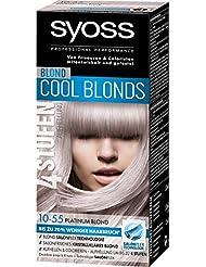 Syoss Blond Cool Blonds 10-55 Platinum Blond Stufe 3, 3er Pack (3 x 115 ml)