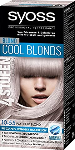 Syoss Blond Cool Blonds 10-55 Platinum Blond Stufe 3, 3er