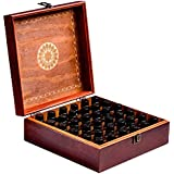 Red 36 : Beautiful Essential Oil Box 36-Bottle- Holds 5-10-15-30ML 1oz & 10ml Roll On Bottles- Comes W/ 1 METAL...