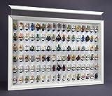 FiguCase Click System Vitrine 50 x 70 für 102 eure Lego® Figuren weiß weiß