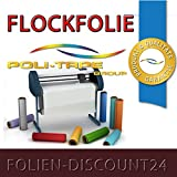 (EUR 25,80 / Quadratmeter) FLOCKFOLIE BROWN 520 - 550 BÜGELFOLIE TOP ! Preistip Flex Flock 1 M x 50 cm