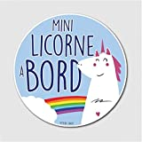 Stickers-vinyle-Mini-Licorne-A-Bord