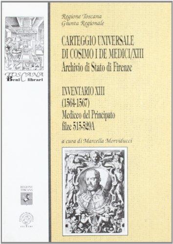 Carteggio universale di Cosimo I de' Medici: 13