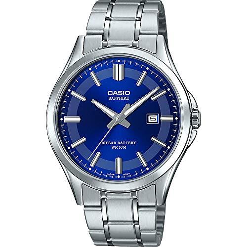 CASIO Herren Analog Quarz Uhr mit Edelstahl Armband MTS-100D-2AVEF