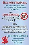Avery Zweckform 59508 Keine Werbung Etiketten Schriftzüge (wetterfeste Transparentfolie) 4 Aufkleber