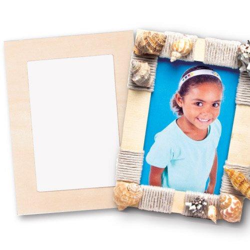 Baker Ross Bilderrahmen aus Holz zum Basteln und Bemalen für Kinder ideal als Geschenk für Geburtstag und Muttertag (4 Stück)