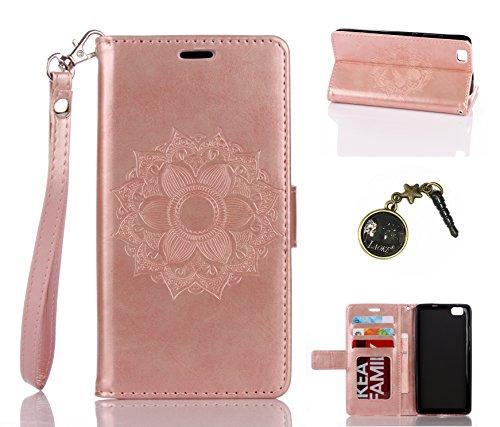Preisvergleich Produktbild PU Silikon Schutzhülle Handyhülle Painted pc case cover hülle Handy-Fall-Haut Shell Abdeckungen für (Huawei P8 Lite) +Staubstecker (1SS)