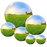 6 Stks Roestvrij Staal Gazing Bal voor Home Tuin Ornament Decoraties, 50-150 mm Spiegel Gepolijst Holle Bal Reflecterende Tuinbol