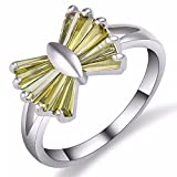 T-CMKJ anello satelliti multiple gioielleria anello arco composizione zircone gioielli atmosfera anello di moda selvaggia, No. 7, bianco giallo