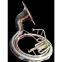 Indische handgefertigt Messing Finish Sousaphon aus Messing Tuba Mundstück mit Tragetasche 63,5cm