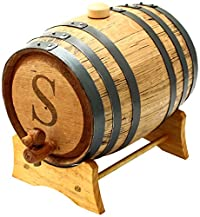 Cathy's Concepts Personalized Original Bluegrass Barrel, Large, Letter S