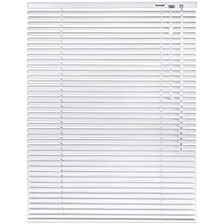 iZUHAUSE® Persiana de aluminio (cordón de tracción, longitud acortable individualmente) 7 X tamaño blanco