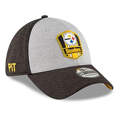 New Era Pittsburgh Steelers on Field Sideline 18 Road 3930 39thirty Cap Curved Visor M L NFL
