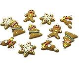 Beads Unlimited Polymer Weihnachten Lebkuchen Clay Designs, 10Stück, Mehrfarbig