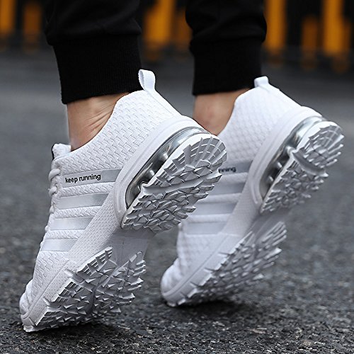 PAMRAY Damen Herren Running Fitness Sneaker Air Outdoors Straßenlaufschuhe Sports Freizeit Laufschuhe 36-46 Schwarz Blau Rot Weiss Weiß