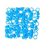 huertuer approx. 100 pcs/set colorful rings for birds and pigeon(random color) Huertuer Approx. 100 Pcs/Set Colorful Rings for Birds and Pigeon(Random Color) 517 Olpza1L