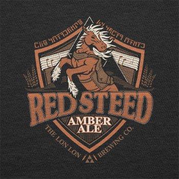 Texlab–Red Steer Amber Ale The Lon Lon Brewing Company–sacchetto di stoffa Nero