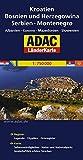 ADAC LänderKarte Kroatien, Bosnien und Herzegowina 1:750 000: Serbien, Montenegro, Albanien, Kosovo, Mazedonien, Slowenien - ADAC Kartografie