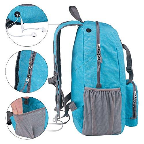 Faltbarer Rucksack 15 30 35 Liter Ultra Leicht für Outdoor Wandern, Camping Reisen und vieles mehr. Blau