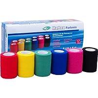 Haftex Farbmix, elastische, kohäsive (selbsthaftende) Haftbinde für die Fixierung von Wundverbänden, 6 cm x 4... preisvergleich bei billige-tabletten.eu