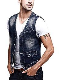 Zicac -Gilet en jean sans manches Homme