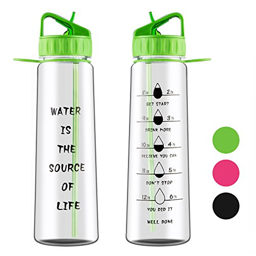 Wasserflasche Sport Wasserflasche mit motivierenden Zeit-Markierungen