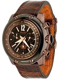 Glam Rock 0.96.2499 - Reloj analógico de cuarzo unisex con correa de piel, color marrón