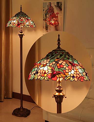 Tiffany Stehlampe Kupfer (Standleuchten Tiffany-Stehlampe, Glasierte Lampen im europäischen Stil, Café, Arbeitszimmer, Wohnzimmer, Schlafzimmer-Stehlampe, Kreative Retro-Beleuchtung)