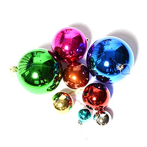 NiceButy 6 Weihnachtsdekoration Kugeln hängen dekorative Kugeln für Indoor Outdoor Weihnachtsbaum Halloween Family Party Dekoration Weihnachtsschmuck