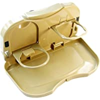 DDBOXEN car Storage Tray car Accessories Interior Storage Tray Car Travel Plastic Fold able Meal Drink Cup Tray Holder…
