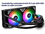 DeepCool Captain 240Pro Addressable RGB Aio CPU Liquid Cooler Rainbow 5V ADD RGB 3-Pin Compatibile Intel 115X/2066 e AMD Tr4/Am4