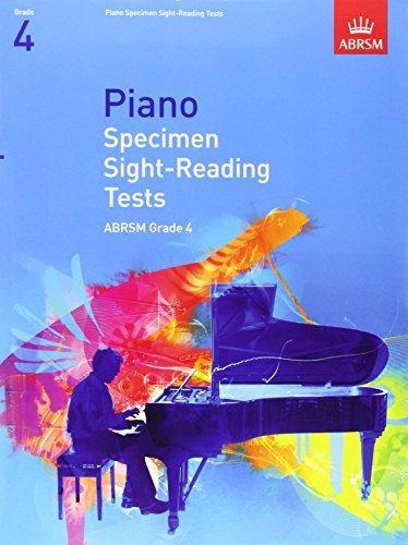 Piano Specimen Sight-Reading Tests, Grade 4 (ABRSM Sight-reading) by ABRSM (July 3, 2008) Sheet music