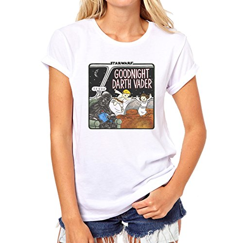 Good Night Darth Vader Icon Comic Damen T-Shirt Weiß