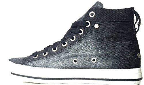 Diesel Exposure IV W Black Glitter Womens Canvas Trainers Boots-6