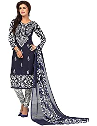 A K Designer Women's Chiffon Dress Material (Mehak9010_Free Size_Blue)