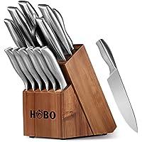 Juego de Cuchillos, Juego de Cuchillos de Cocina HOBO de 14 piezas con un Bloque
