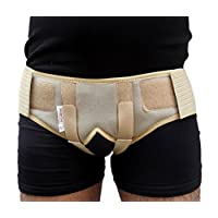 Wonder Care Inguinal Hernia Belt for Men post surgery Hernia pain relief Truss Brace for Double Inguinal or Sports Hernia Truss with 4 Removable Compression Pads & Adjustable Groin Straps