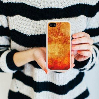 Apple iPhone 4 Housse Étui Silicone Coque Protection Feu Feu Motif Housse en silicone blanc