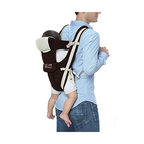 """GudeHome Baby Carrier 4 Positions Backpack, Front Facing, Kangaroo & Sling Lightweight Infant Carrier GudeHome COMFORT AND SECURITY - We know how important it is to you as the consumer to have a product that you can rely on and with peace of mind. That confidence you feel when you know your product was worth every penny! """"The proof is in the pudding"""" they say. Our double sling design provides extra security for baby and privacy while nursing. An adjustable shoulder belt and waist belt are made for safer carrying with a double-protection safety buckle eloquently designed just for your maximum comfort! EVERYTHING YOU EVER WANTED in a baby carrier can be found in flexible, lightweight, and ergonomic baby carrier. Our unique and comfortable carrier allows for FOUR safe carrying positions. The Backpack, Kangaroo, Front-Facing, & Sling positions can all be used based on your mood and comfort. This carrier provides plenty of back support. It sits on both shoulders to take stress off the back. No other baby carrier offers such a variety of positions and styles to carry your baby! QUALITY IS OUR PRIORITY - You may be thinking what separates this baby carrier from other brands that are made of cheap quality and initially seem fine, but soon after begin to fail. The baby carrier is made of top quality and premium material that is meant to last over a long-term period and designed to be the best and last brand of baby carrier you ever have to buy! 23"""