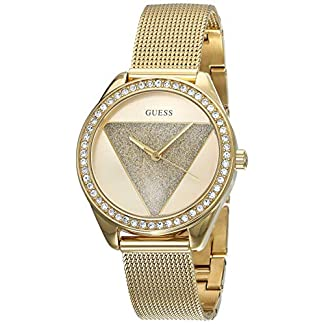 Guess Reloj Analógico para Mujer de Cuarzo con Correa en Acero Inoxidable W1142L2