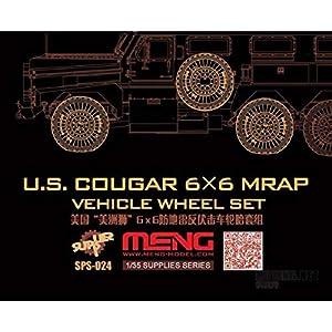 Unbekannt Meng SPS de 024-Maqueta de US Cougar 6x 6mrap Vehicle Wheel Set