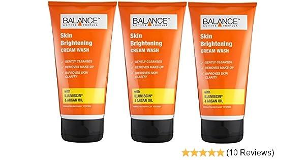 Balance Skin Brightening Cream Wash 3 X 150ml With Illumiscin Argan Oil