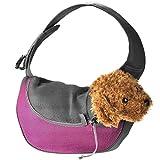 Pequeño perro gato único portador de hombro para la bicicleta de senderismo cachorro portador portador de monedero para viajes al aire libre , m