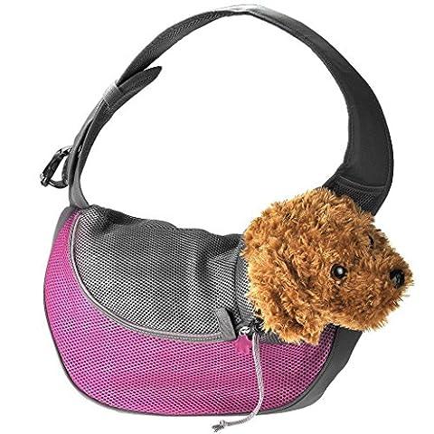 Kleine Hund Katze Single Schulter Carrier Für Bike Wandern Puppy Pet Carrier Sling Geldbörse Für Reisen Outdoor , m