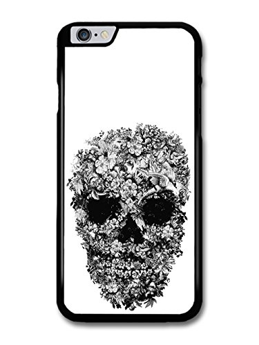 skull-with-flowers-pattern-black-and-white-by-alexander-mcqueen-case-for-iphone-6-plus