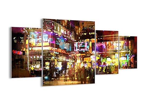 Quadro su vetro - quattro 4 tele - larghezza: 160cm, altezza: 90cm - numero dell'immagine 3199 - pronto da appendere - elementi multipli - arte digitale - moderno - quadro in vetro - gdl160x90-3199