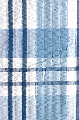Blue Check Seersucker Tablecloth 50/70 by RPT